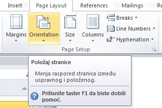 polozaj stranice