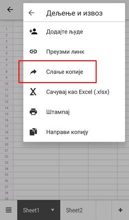 slanje dokumenta kopijom