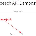 Veb aplikacija za pretvaranje govora u tekst