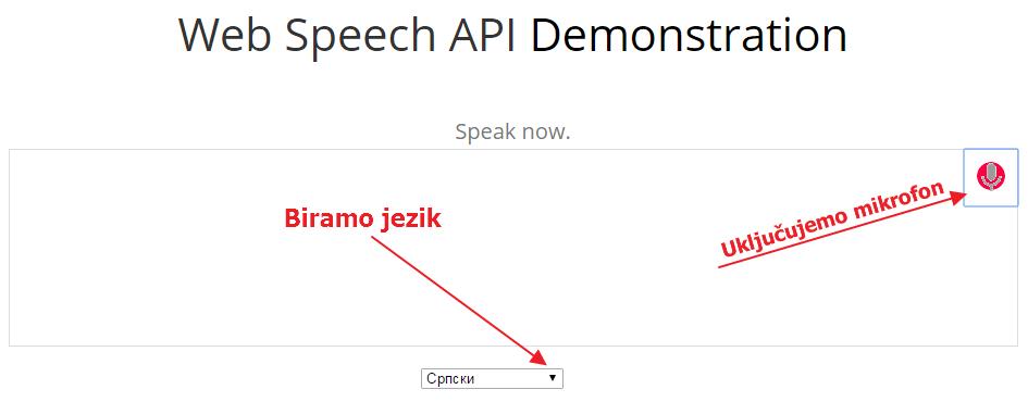 aplikacija za prepoznavanje govora
