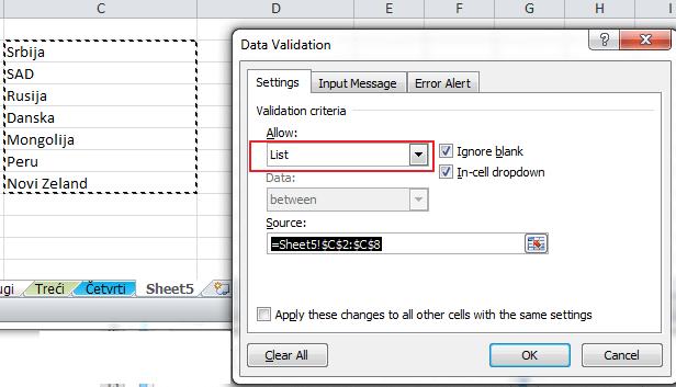 validacija podataka