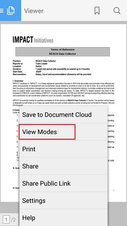 view modes pdf citac