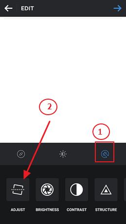 prilagoditi sliku u instagramu adjust