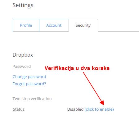 verifikacija u dva koraka
