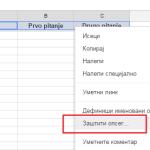 Kako zabraniti uređivanje određenih ćelija u Google tabelama?