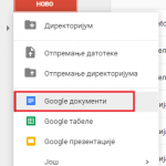 Unos teksta glasom u Google dokumentima