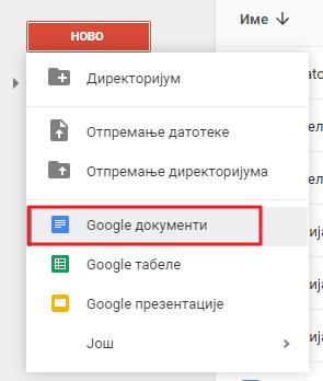 google dokumenti