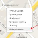 Kako izmeriti razdaljinu između dve tačke pomoću Gugl Mapa?