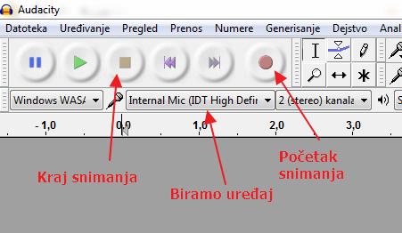 snimanje zvuka na racunaru