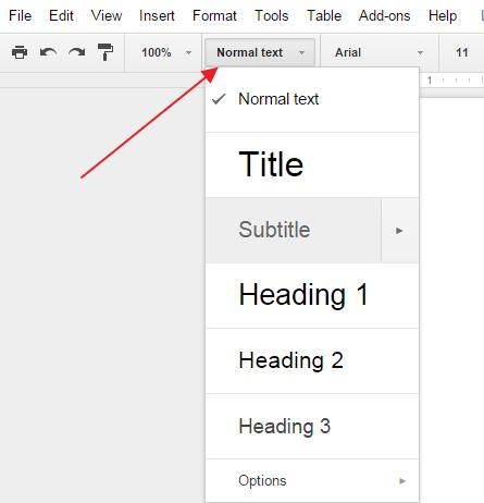 naslovi u gugl dokumentima