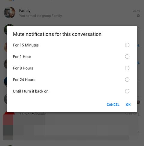 iskljuci obavestenja sa grupnih razgovora