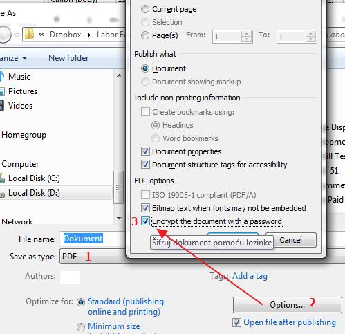 napravi zasticeni pdf dokument