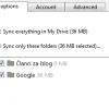 opcije sinhronizacije google disk