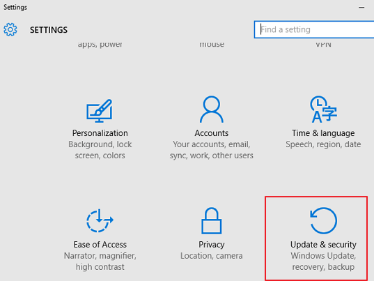 podesavanja windows 10 settings