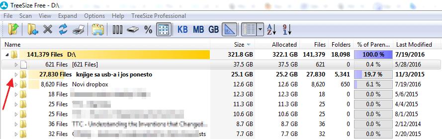 otvori sadrzaj foldera