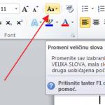 Kako da u Excelu ili Wordu pretvorite mala slova u velika i obrnuto?