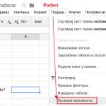 Kako napraviti padajuću listu u Google tabelama?