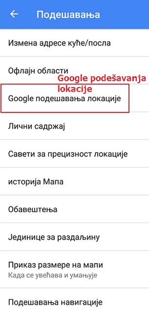 google-podesavanja