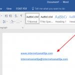 Kako da isključite linkove u Wordu?